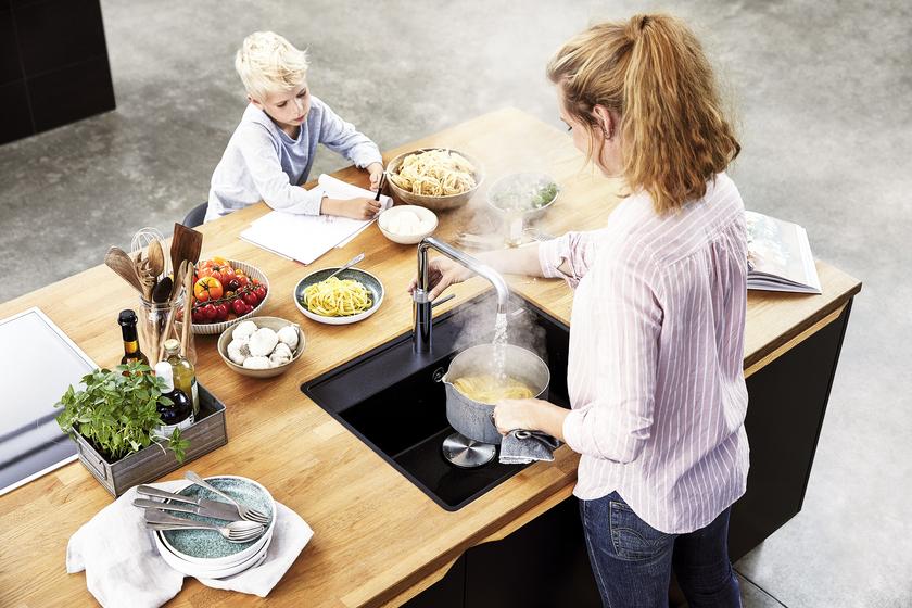 Quooker familie kogende vand krom